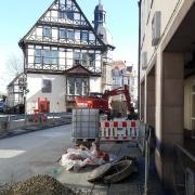 Baustelle in der Weserstraße